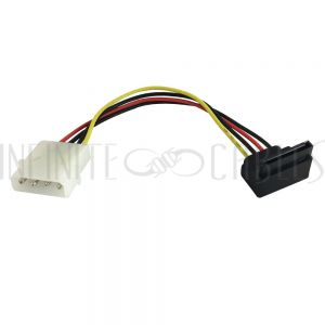 SA-901-06 6 inch 4 pin Power to Right Angle 15 pin SATA Power Cable - Infinite Cables