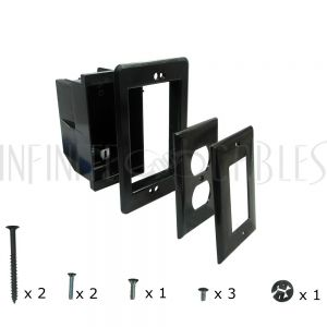 Recessed Box, Single Gang - Enclosed Back for A/V or Power - Black