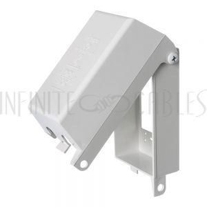Outdoor Weather Proof Outlet Box, Single Gang White