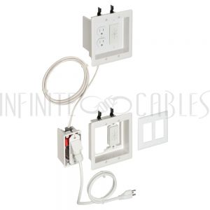Recessed Double Gang Power plus Low-Voltage Bridge Kit