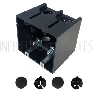 Outlet Box, Double Gang - Power or Low Voltage, New / Existing Construction