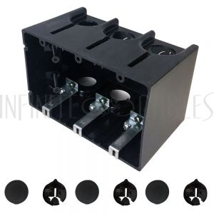 Outlet Box, Triple Gang - Power or Low Voltage, New / Existing Construction