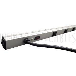 1589T70G1 Hammond 70 inch 10-Outlet Vertical Power Strip - 15ft 5-20P Cord, 5-20R Receptacles