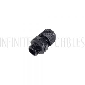 CG-M16-L Cable Gland M16x1.5 Thread - Cable OD 5~10mm - IP68 - Black - Infinite Cables