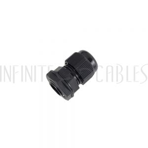 CG-M16-S Cable Gland M16x1.5 Thread - Cable OD 5~10mm - IP68 - Black - Infinite Cables
