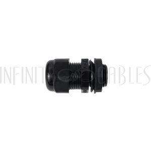 CG-M20-L Cable Gland M20x1.5 Thread - Cable OD 10~14mm - IP68 - Black - Infinite Cables