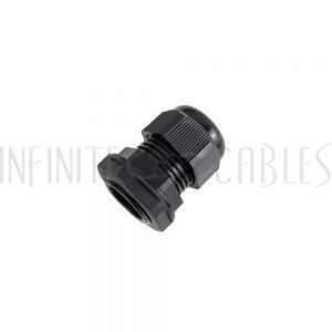 CG-M25-S Cable Gland M25x1.5 Thread - Cable OD 11~17mm - IP68 - Black - Infinite Cables