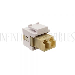 WP-IN-LC-BG LC/LC Keystone Wall Plate Insert White- Multimode 62.5u Duplex - Beige - Infinite Cables