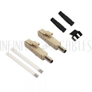 FO-CN130-2MM Mini-LC MM Duplex Connector for 2mm Jacket - Infinite Cables