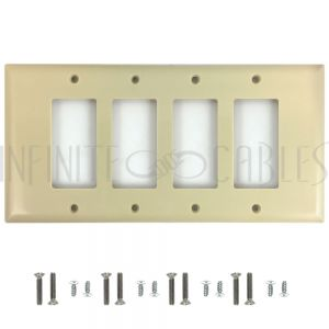 Decora Four Gang Wall Plate - Ivory