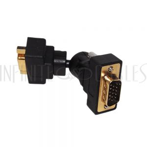 VGA Male to Female Adapter - 360 Degree Swivel