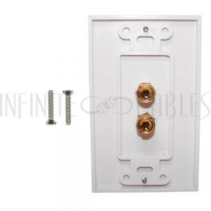 1 Pair Banana Clip Wall Plate Kit Decora - White