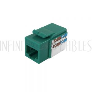 RJ45 Cat6 Slim Profile Jack, 110 Punch-Down - Green